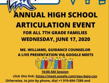 High School Articulation Event
